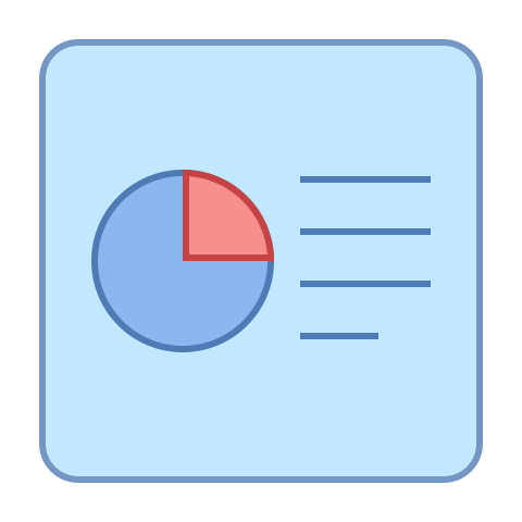 Picture of a graph and report icon