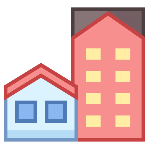 Picture of some city buildings icon