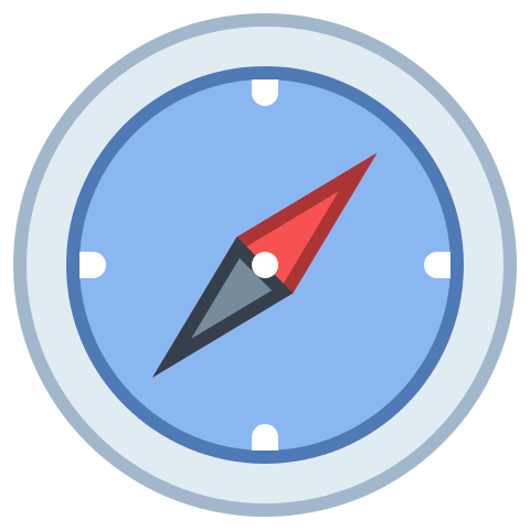 Picture of a compass icon